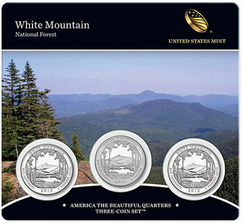 White Mountain Three Coin Set