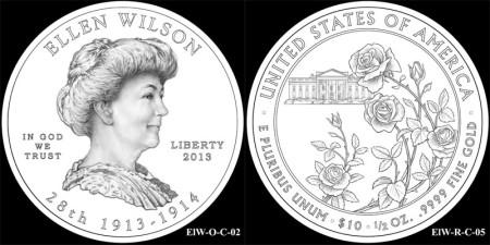 Ellen Wilson First Spouse Gold Coin
