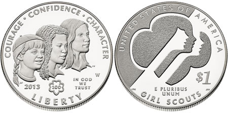 2013 Girl Scouts Silver Dollar