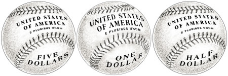 Baseball Coin Reverse Design