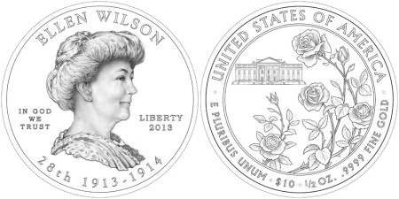 Ellen Wilson First Spouse Gold Coin