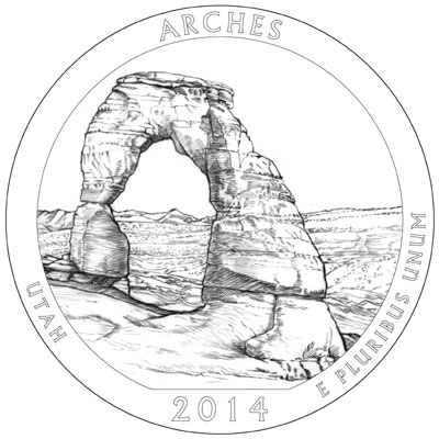 2014 Arches National Park Quarter