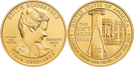 Edith Roosevelt First Spouse Gold Coin