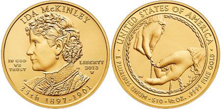 Ida McKinley Gold Coin