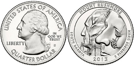 Mount Rushmore Quarter