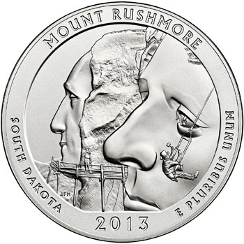 Mount Rushmore Five Ounce Silver Coin