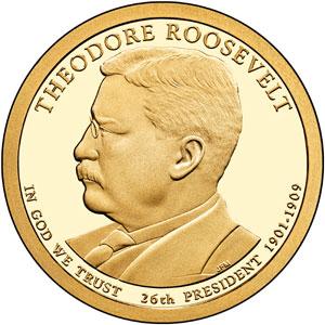 Theodore Roosevelt proof Dollar