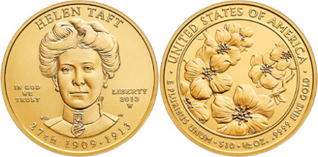 Helen Taft First Spouse Gold Coin