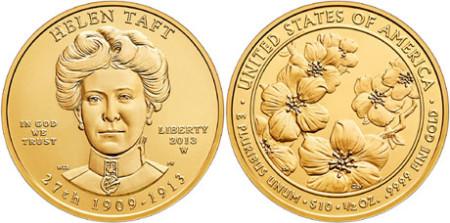 Helen Taft First Spouse Gold Coin