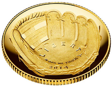 2014 National Baseball Hall of Fame Gold Coin