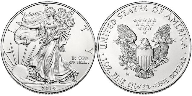 2014-W American Silver Eagle