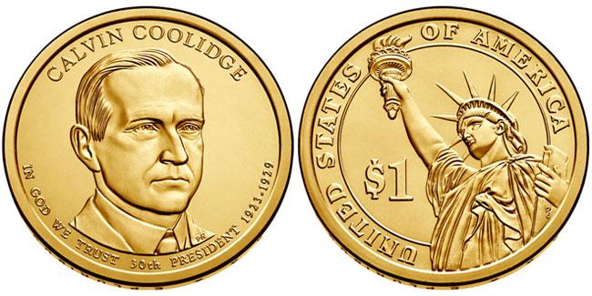 Calvin Coolidge Presidential Dollar