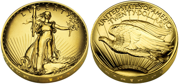 2009 Ultra High Relief Gold Coin