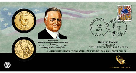 Herbert Hoover Coin Cover