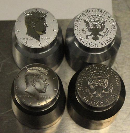 2014-W Reverse Proof Silver Kennedy Half Dollar coin dies