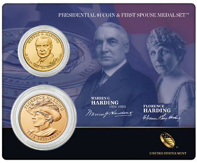 Warren G. Harding Coin and Medal Set