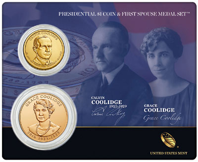 Calvin Coolidge Coin and Medal Set
