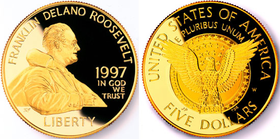 1997 Franklin D. Roosevelt Gold Coin