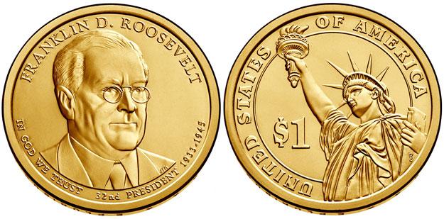 2014 Franklin D. Roosevelt Presidential Dollar