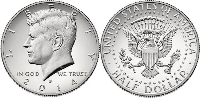 2014-S Enhanced Uncirculated Silver Kennedy Half Dollar