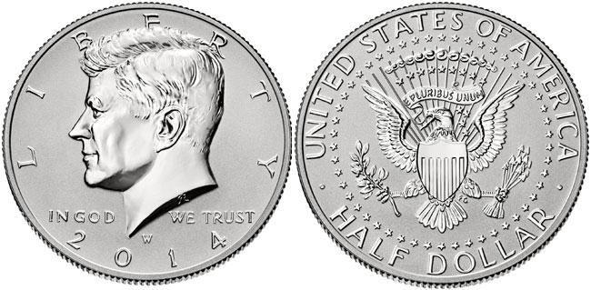 2014-W Reverse Proof Silver Kennedy Half Dollar