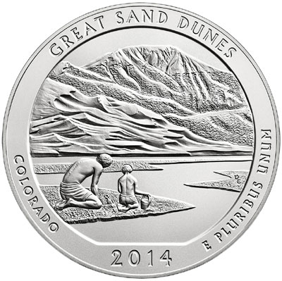 Sand Dunes Silver Coin