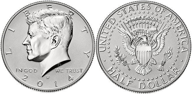 Reverse Proof Kennedy Half Dollar