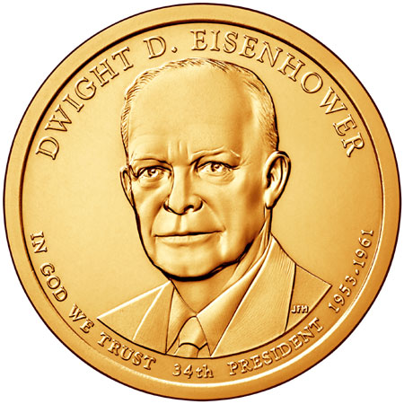 2015 Dwight D. Eisenhower Presidential Dollar