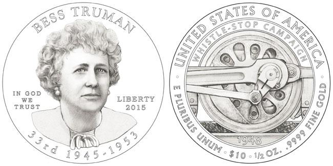 2015 Bess Truman First Spouse Coin