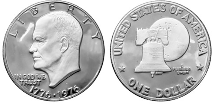 Eisenhower Bicentennial silver dollar. (Photo courtesy of the United States Mint)