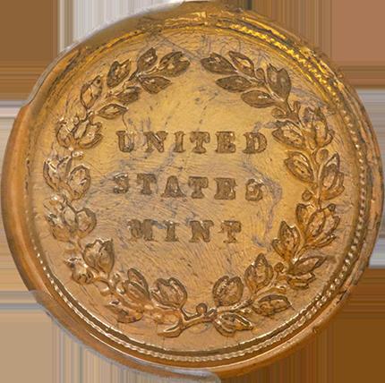 Reverse design, based on a George Washington medalet.