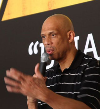 Hall-of-Famer and Global Cultural Ambassador for the U.S. Department of State Kareem Abdul-Jabbar engages youth in Salvador, Brazil, on January 24, 2012. (State Department photo)
