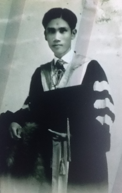 Grandfather-in-law Teofilo R. Rojas Sr. in 1929, as a graduating Doctor of Dental Surgery, University of the Philippines, Manila.
