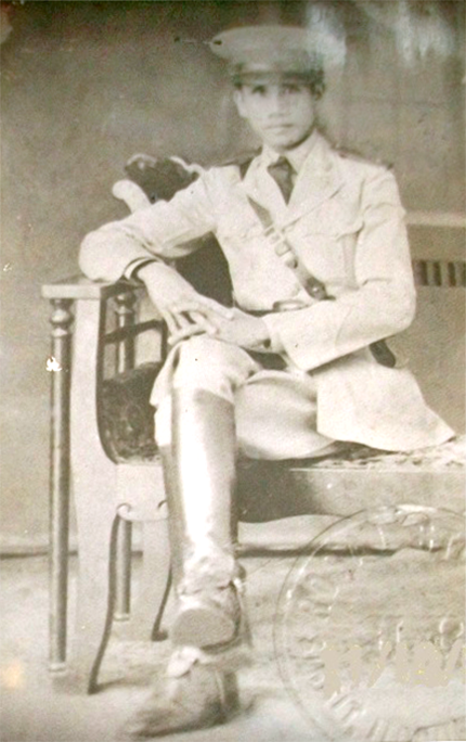 Circa 1941, as an officer of the Philippine Constabulary, which became part of the USAFFE.