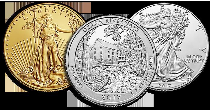 2017-gold-silver-eagles-Unc-Ozark