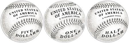 Baseball Coin Reverse Design
