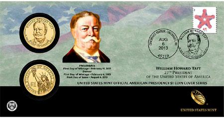 William Howard Taft $  1 Coin Cover