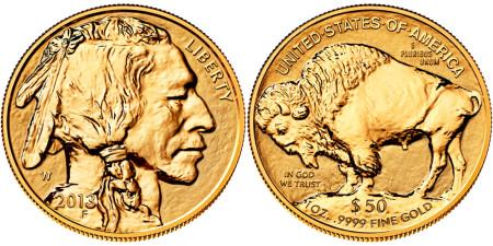 2013 Reverse Proof Gold Buffalo
