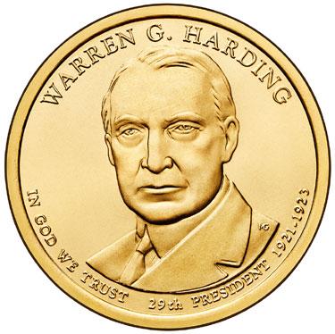 S Warren Harding Presidential Proof Dollar Roll 20 US Coins 2014