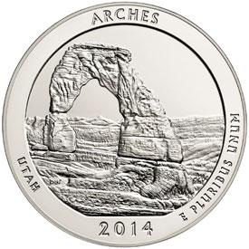 PACKAGING US MINT /& COA FOR 2014-P SHENANDOAH ATB 5 Oz SILVER SPECIMEN NO COINS