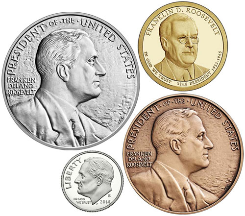 2014 Franklin D Roosevelt Coin And Chronicles Set Mint