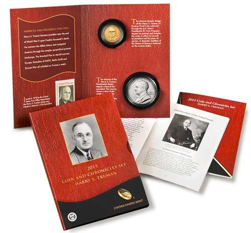 2015 P+D Harry S Truman Presidential Dollar Set ~ Position A+B ~ From Mint Roll
