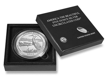 America the Beautiful 5 oz Silver Coin Album Book of Silver with 5 Z-5 AirTites