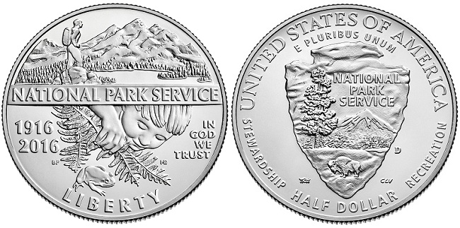 2016 National Parks Anniversary Commerative Coin Uncirculated Clad Half-Dollar