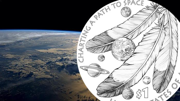 2019 Sacagawea Sac Native American in Space Dollar Clad Proof